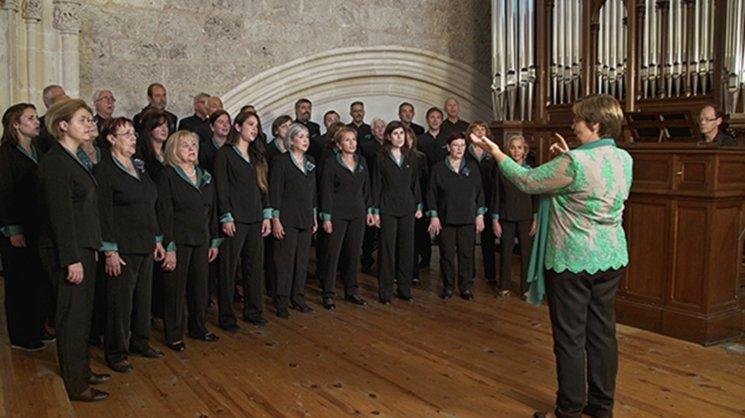 Momento de la grabación. Iglesia La Merced. Burgos.
