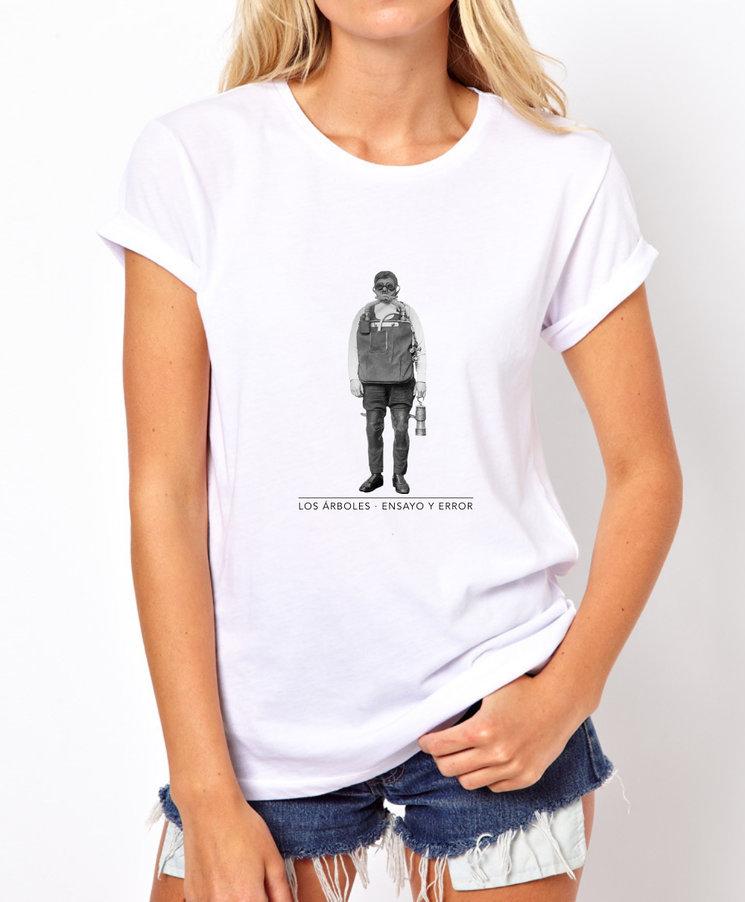 Camiseta original mujer. LosÁrboles-Ensayo y Error.