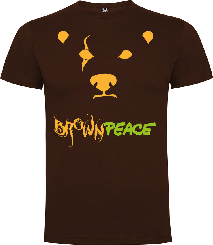"Camiseta ""Brown Peace"""