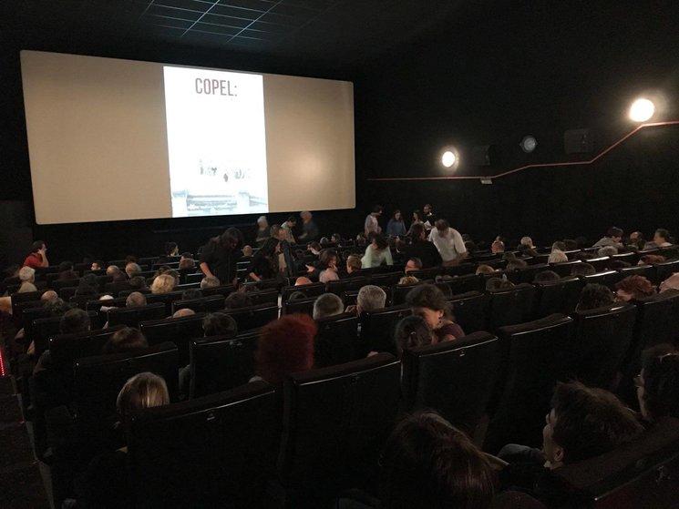 """Estrena de """"COPEL:una historia de rebeldia y dignidad"""" en la Cinétika.Barcelona. Sabado 28 Octubre 2017."""