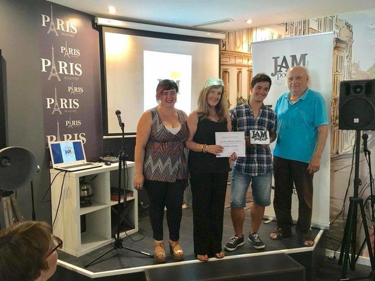 Alejandro Marquez, primer premio poesia juvenil Jam ed. 2017, entrega de premios, Paris Gourmet, l