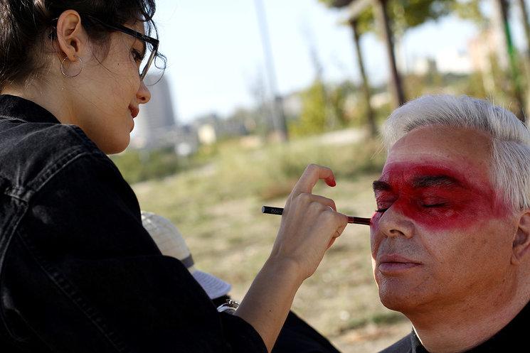 Excelente trabajo de maquillaje de Mel Cascabelo (foto de Ester Legaz)
