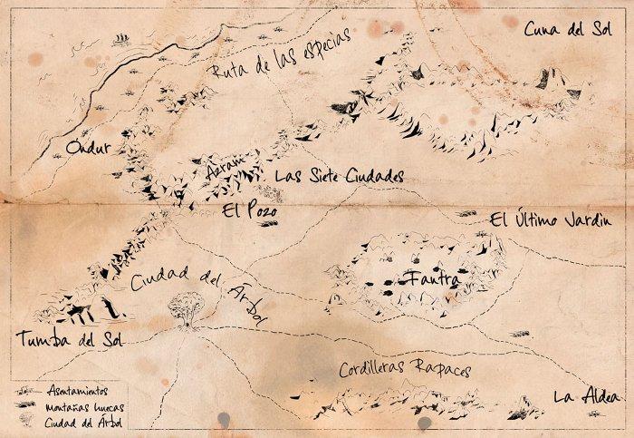 Mapa de la estepa que está diseñando Bego Fumero