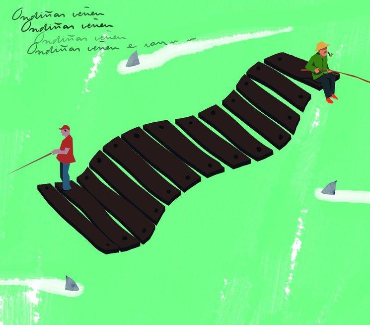 Ya somos 89 raíces y suma que te sigue !!! Y para darle la bienvenida al cercano 50% del objetivo, esta bonita ilustración de Arturo Martín Garcimartín que podrás encontrar en el libreto de nuestro primer cd ¨ raíces con alas¨.  ¨A Rianxeira é a canción dos inmigrantes galegos, os seus fillos, netos e aqueles que non tendo ascendencia galega o son tamén por ter lazos de familia. Están espallados por todo o mundo onde as tradicións se atopan mesturadas. Familia, saudade, aldea… ¨ ¨ Ondiñas da nosa ría ¨ como se llamo en un principio, fue compuesta en 1947 en Buenos Aires por Anxo Romero Loxo con la letra de Xesús Frieiro Dourado (¨Pinciñas¨), en honor a uno de los padres del nacionalismo gallego, el ensayista, dramaturgo y pintor, Alfonso Rodríguez Castelao. El tiempo, con ayuda del auge de la radio la convirtió en uno de los símbolos culturales de Galicia y particularmente del colectivo de emigrantes. A pesar de su origen, el texto no es de carácter religioso, si bien utiliza la figura metafórica de la Virgen para realizar una evocación a la figura de la mujer gallega trabajadora de la mar.