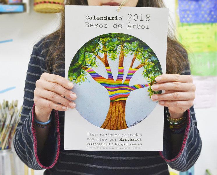Calendario Besos de Árbol 2018