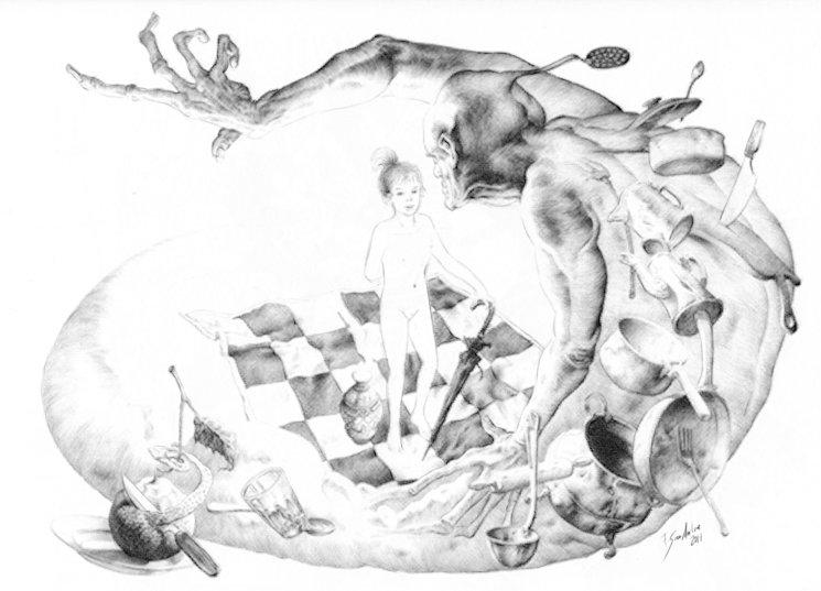 Ilustración para las cartas entre Salvador Dalí y García Lorca
