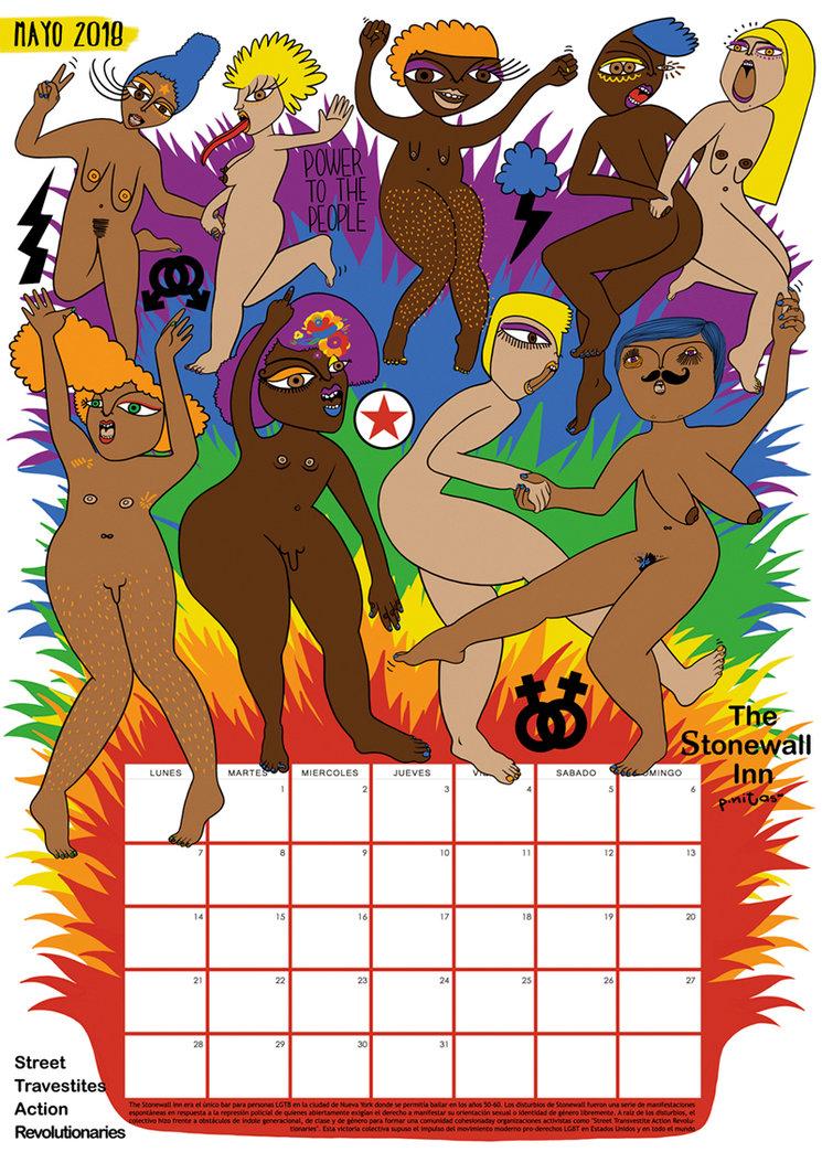 Prototipo del calendario del mes de Mayo 2018 | Disturbios de Stonewall