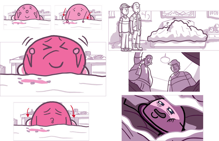 Viñetas del storyboard del tercer episodio