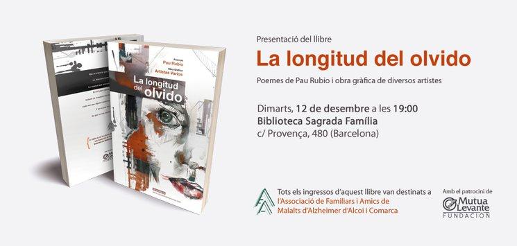 Invitación a la presentación de La longitud del olvido en Barcelona
