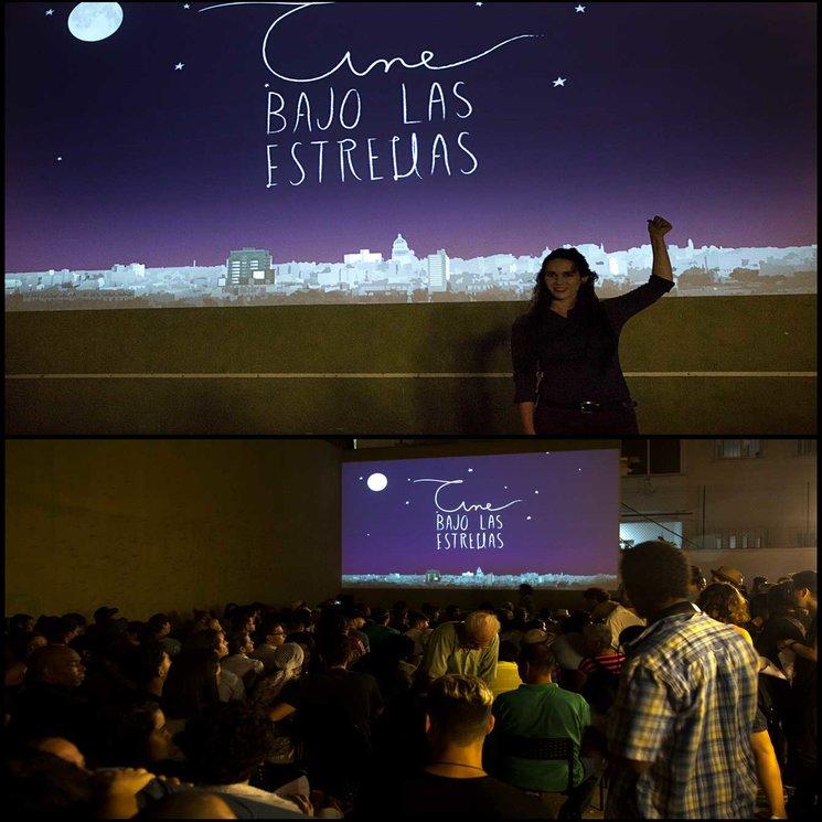 En la premiere en Cine bajo las estrellas #habana #cuba