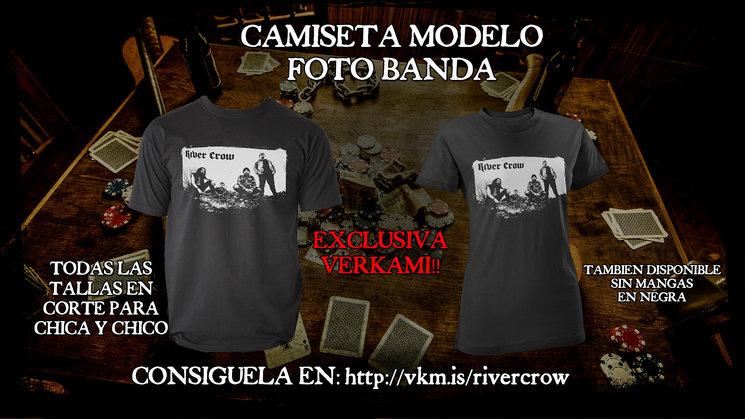 CAMISETA MODELO FOTO BANDA