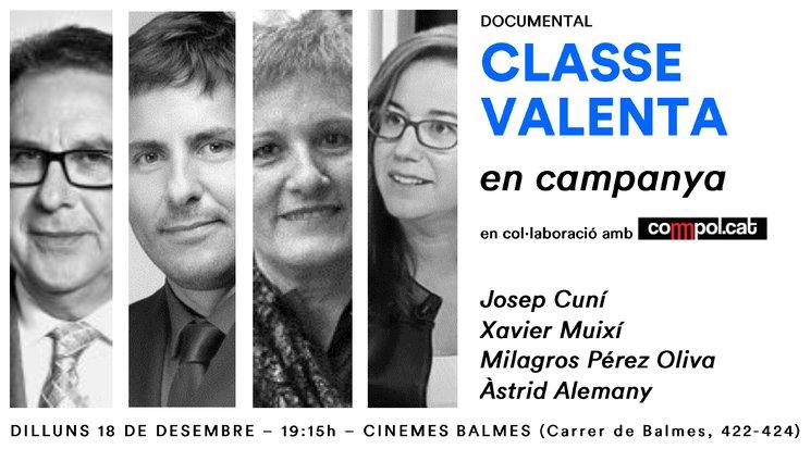 #ClaseValiente en campaña: Acto en Barcelona