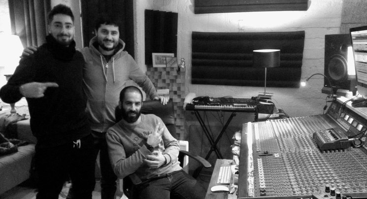 Primer dia de mescla a la Panchita Studio!