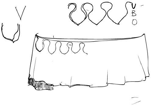 Esbós inicial del vestuari de la nova Mulassa. De Pau Fernández