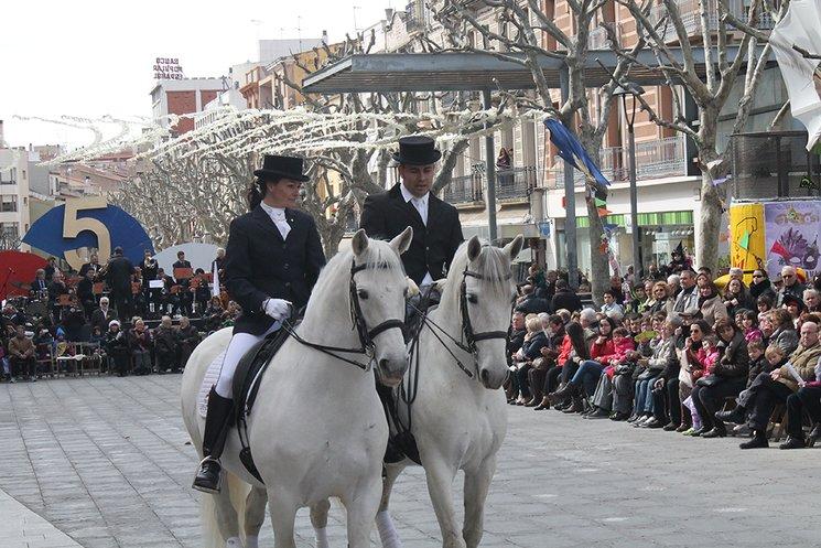 Cavallistes que participavan en el Ball de Gitanes de Mataró fins al 2015.