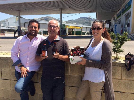 nuestro proveedor de cerezas de la Vall de Gallinera