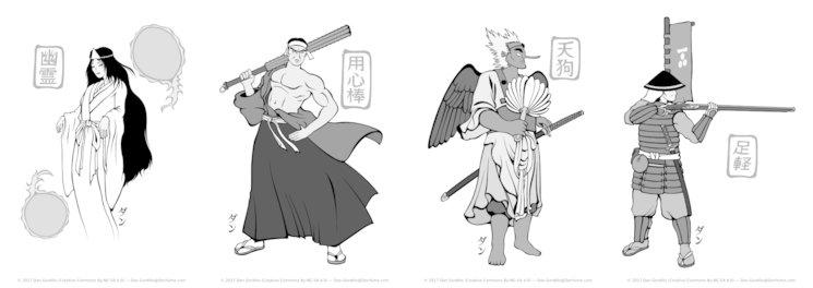 Algunas de las ilustraciones en las que he estado trabajando más recientemente