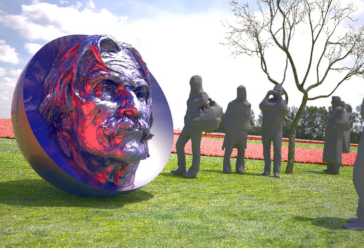 Replanteo presupuesto y acuerdo ejecución escultura Quadra-Salcedo