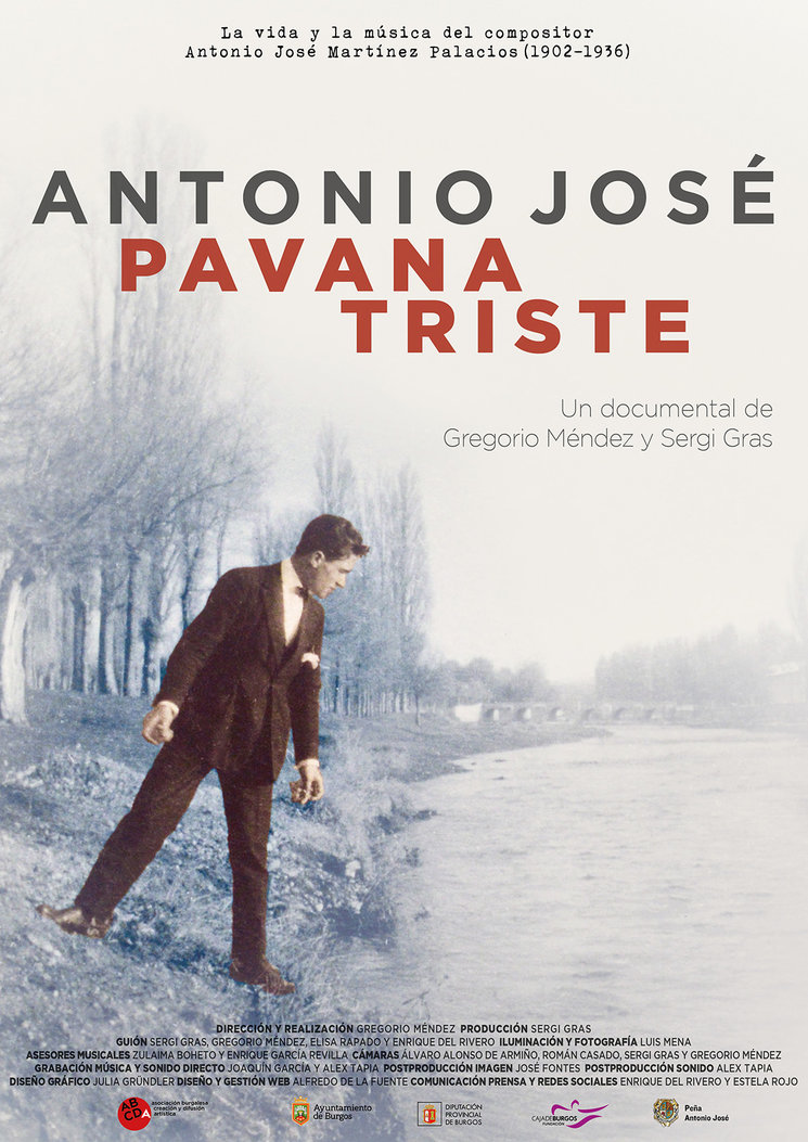 Cartel de Antonio José. Pavana triste
