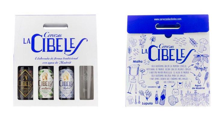 """Pack de 4 cervezas artesanas """"Cibeles"""""""