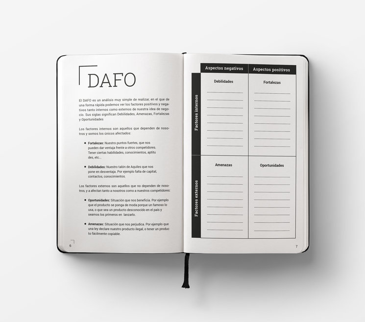 Rellena cada sección de la guía con los datos de tu proyecto