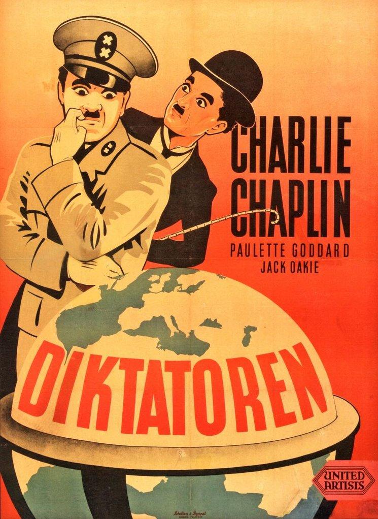 """""""El Gran Dictador"""" escrita y dirigida por Charles Chaplin."""