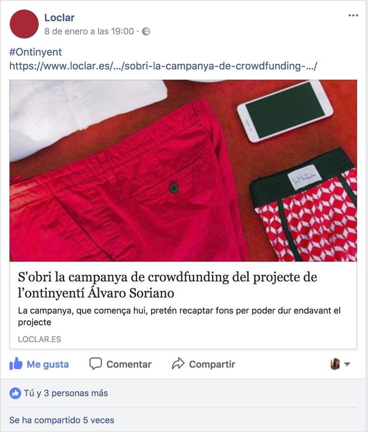 Facebook del periódico Loclar