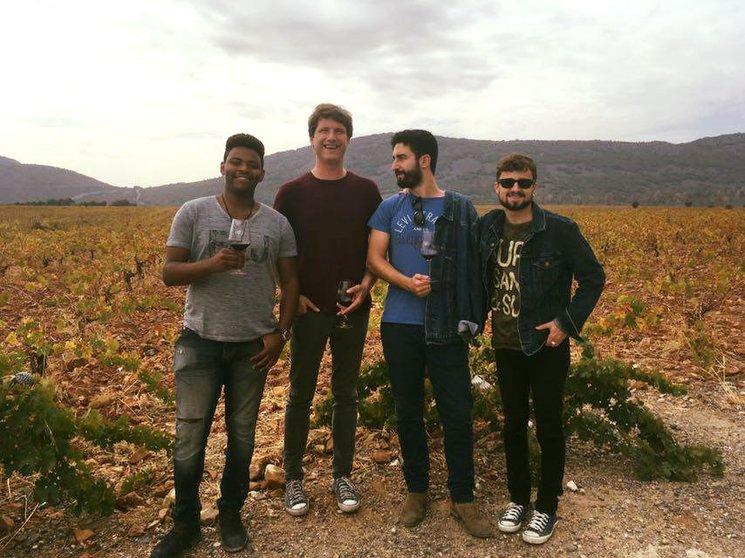 """Fernando, Juli """"El Lento"""", Pablo y Miguel durante el Balancines Wine Sound (2017)"""