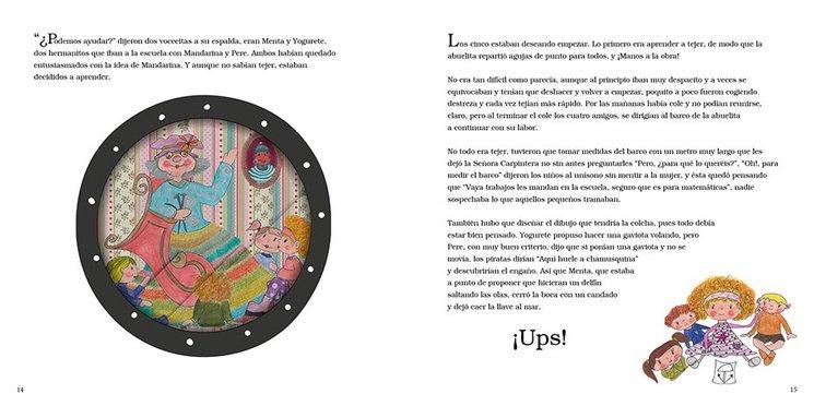 Imagen de dos páginas de Mandarina y los piratas