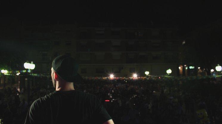 Marcos San José en uno de sus primeros conciertos.
