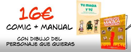Cómic firmado y Manual para el uso de magia adolescente incluído.