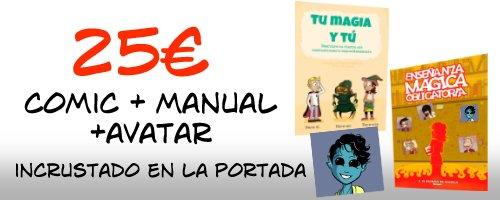 El cómic, el manual, y además haré una versión tuya para avatar que irá incrustada en la portada mediante la hechicería PEGATINA (tm)