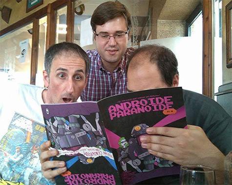 David Braña, Adolfo Rodríguez y David Buceta.