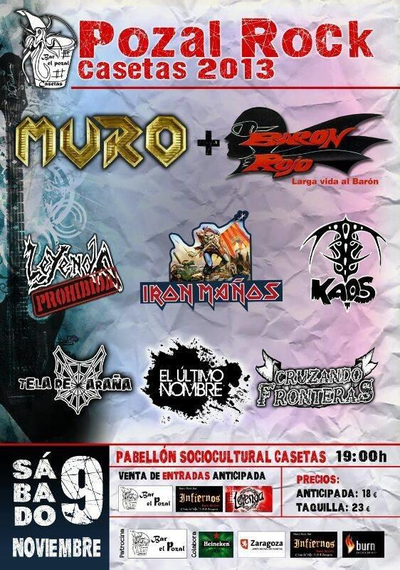 Cartel del Pozal Rock 2013