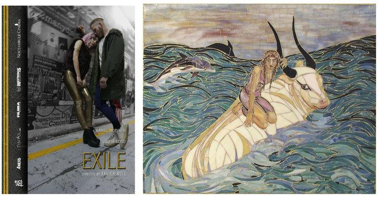 "Teaser póster y ""Europa and Zeus"" mosaico del artista Victor Jorgensen"
