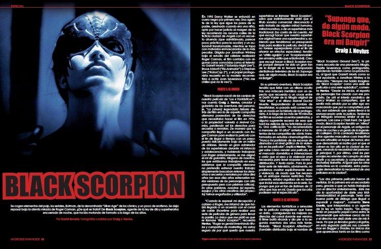 """Primeras páginas de """"Black Scorpion"""""""