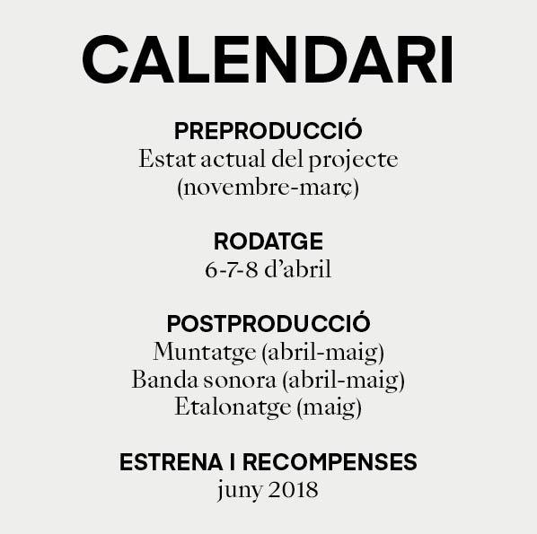 calendari previst