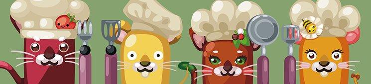 Catchup, Mousetard, Spicy y Honey, los protagonistas del juego.