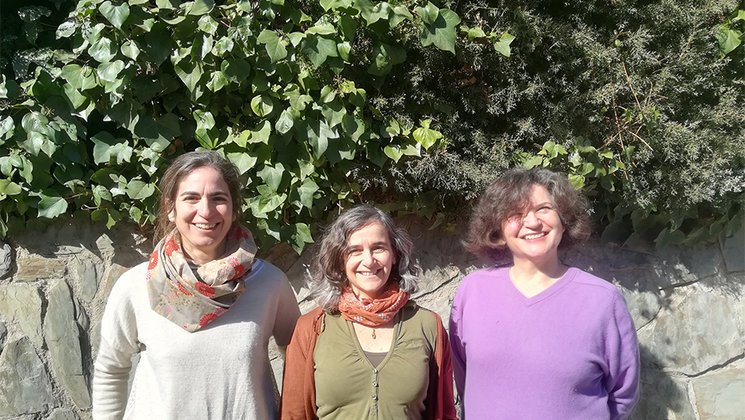 Alejandrina Alfaro, Antonia Barros y Ana Marco.