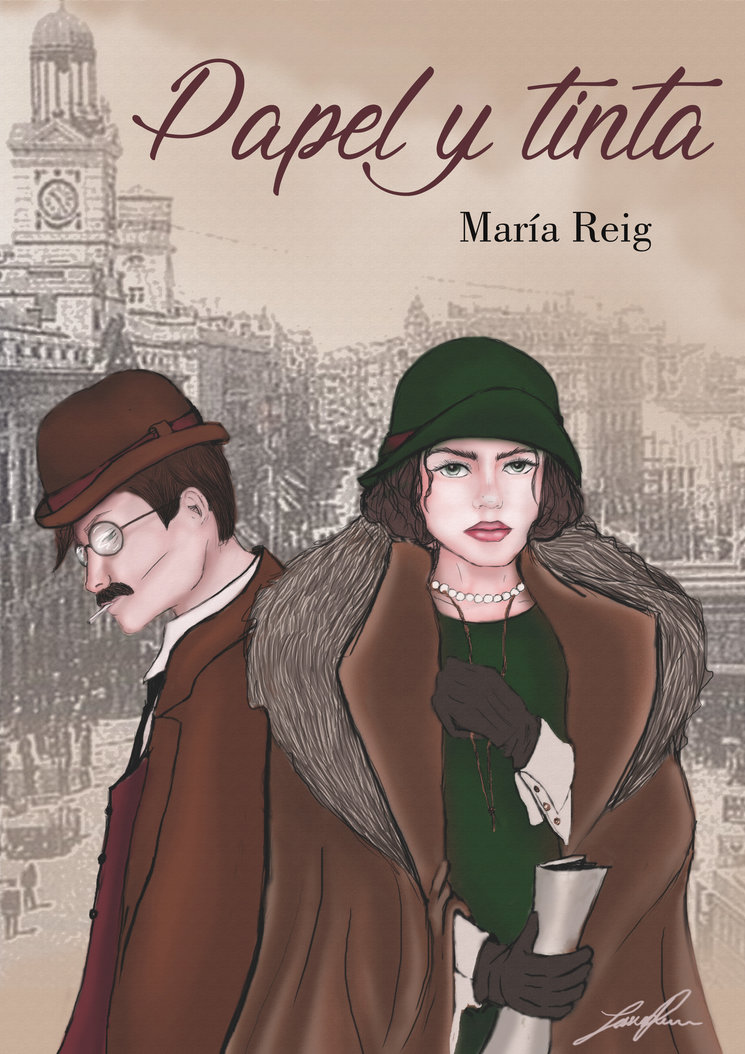 Portada de la novela Papel y Tinta, diseñada por Jéssica Rincón