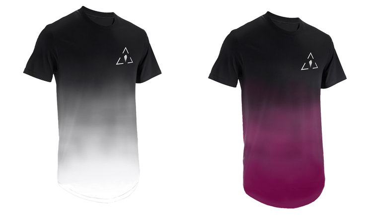 7. Faded Black/Magenta Tee ------------------ 8. Faded Black/White Tee