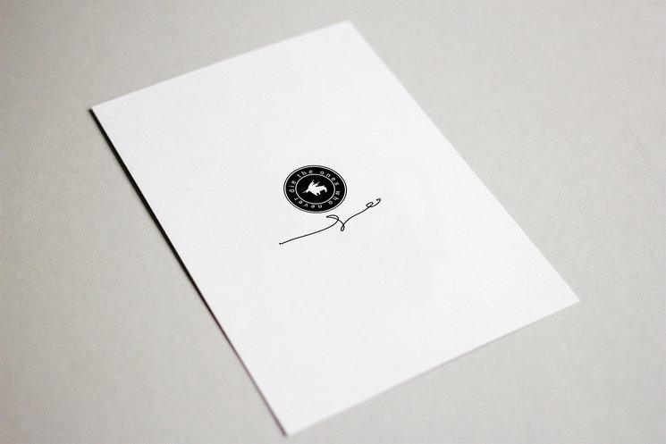 Zona donde va la dedicatoria personalizada para cada mecenas en el reverso de una de las postales