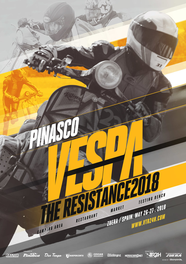 11ª edición de la VTR24H (Vespa the Resistance 24h). @disonyando, Bengt E. Lange http://bildwerk-lange.de