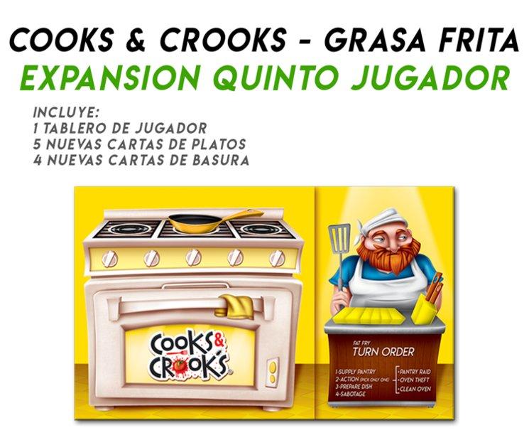 ¡COOKS & CROOKS GRASA FRITA! EXPANSIÓN PARA 5 JUGADORES