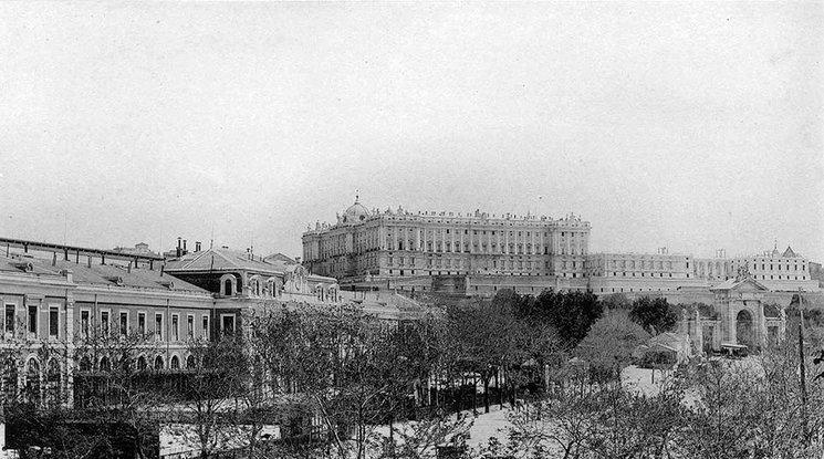 Palacio Real de Madrid, principios del s. XX.