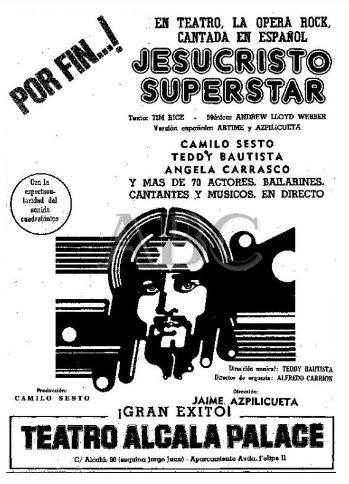 Resultado de imagen para foto del cartel de jesucristo superstar