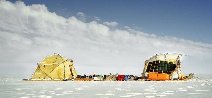 El trineo de viento en la Expedición Río de Hielo 2017
