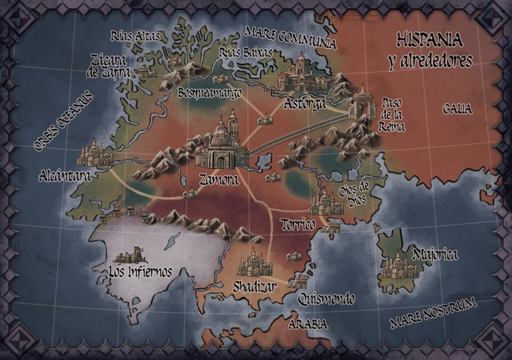 Mapa de Hispania - Luis Miguez