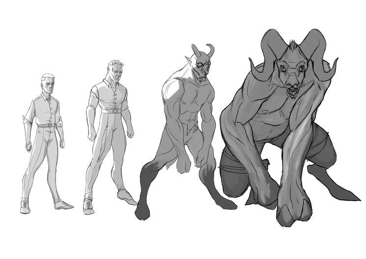 Proceso de transformación de Abominación (concept-art) - Rafa Majano