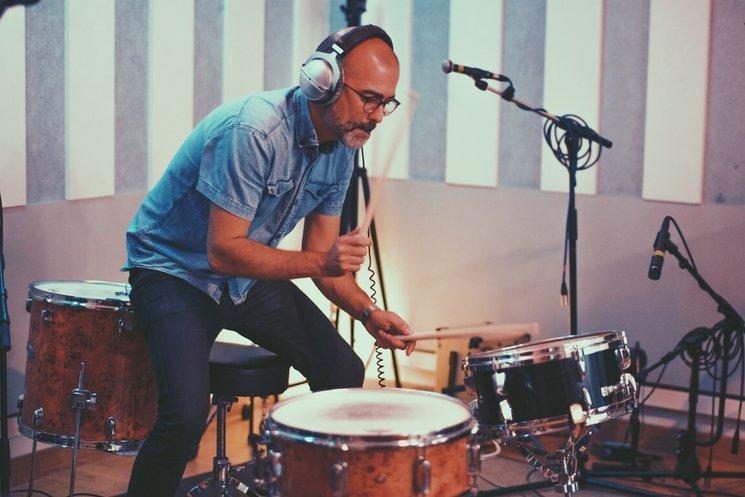 Juanma en la grabación de RGTRN